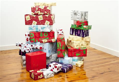 photo of gift boxes symbol of joy celebrated at christmas