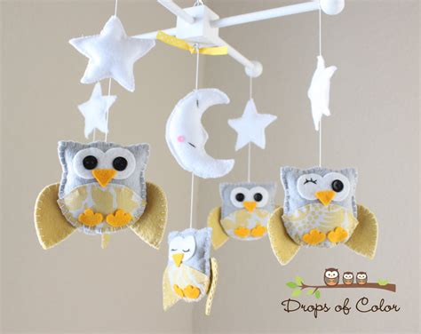 Yellow Crib Mobile by Baby Crib Mobile Baby Mobile Nursery Owl Mobile Yellow