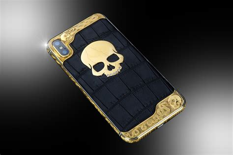 24ct gold iphone xs skull edition goldstriker international