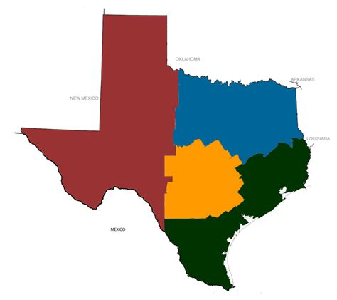 regions of texas map texas regional maps university of houston