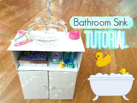 how to make an american girl doll bathroom how to make an american girl doll bathroom sink youtube