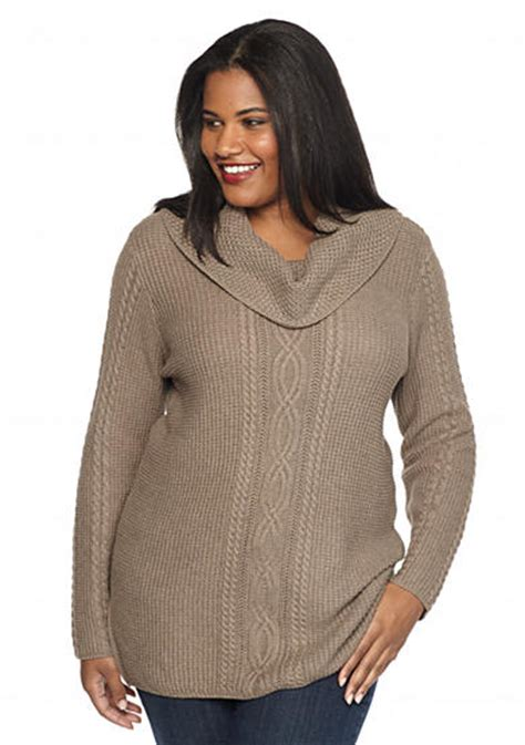 plus size fisherman knit sweater jeanne plus size cowl neck fisherman cable knit