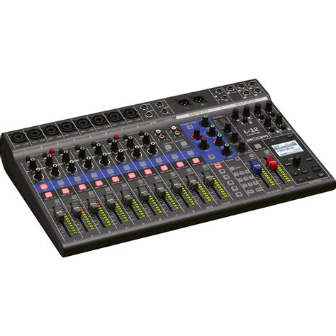 zoom digital zoom livetrak l 12 12 channel digital mixer zl12 b h