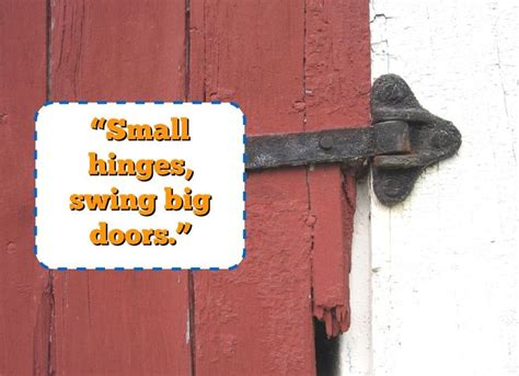 small hinges swing big doors 774 best ideas about self development habit on pinterest