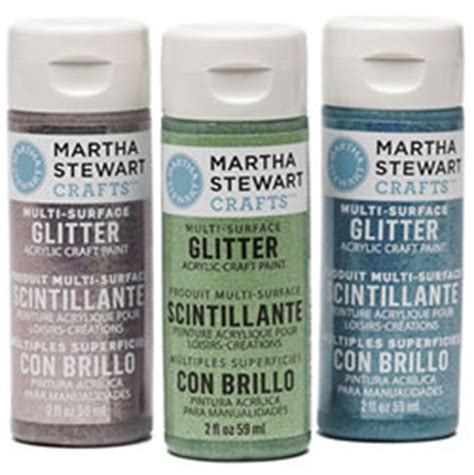 martha stewart crafts glitter paint