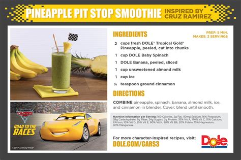 Cars 3 Sweepstakes - fuel up with dole and cars 3 sweepstakes fit disney mom
