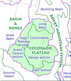 Colorado Plateau Map by Usgs Geology And Geophysics