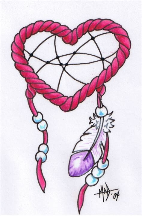 heart dreamcatcher tattoo catcher by madtattooz on deviantart
