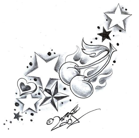 flower and star tattoo designs flower and designs cliparts co