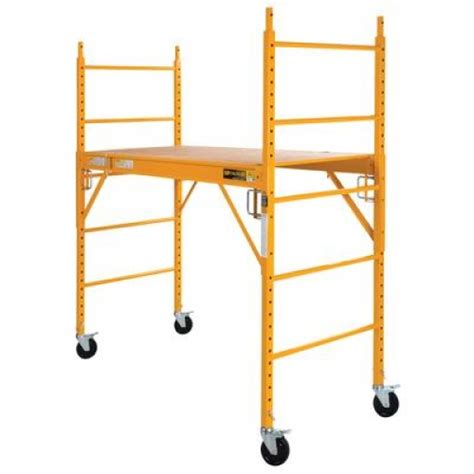 liberty 1000lb scaffold bakers rack yellow like new