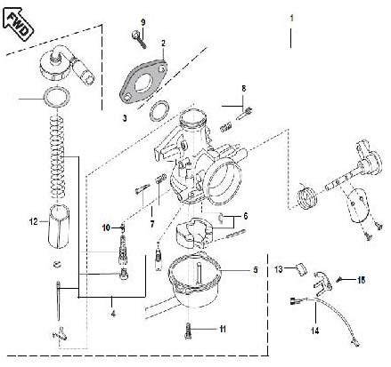 Two Wheeler Spare Parts Air Filter Assembly Cylinder And