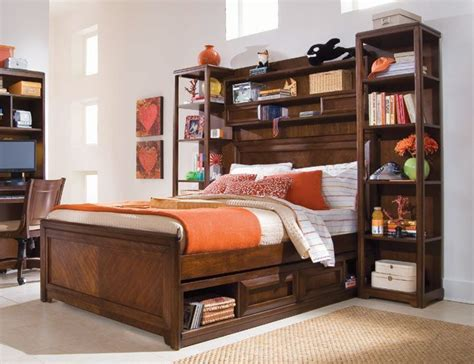 bed with bookshelf black bookcase bed my home style