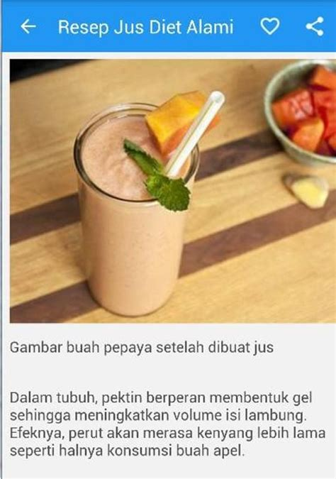 Jus Diet resep jus diet alami for android apk