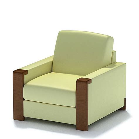 cream armchair cream and brown armchair 3d model cgtrader com