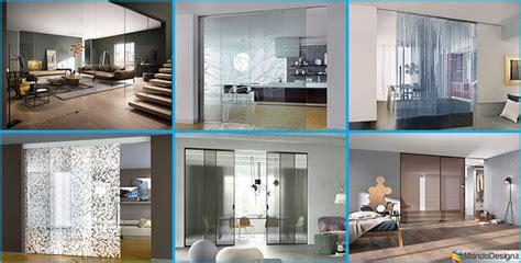 pareti divisorie mobili per abitazioni eleganti pareti divisorie scorrevoli in vetro per