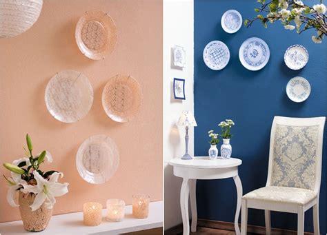 Decoupage Wall Ideas - diy decorative wall plates decoupage on glass and