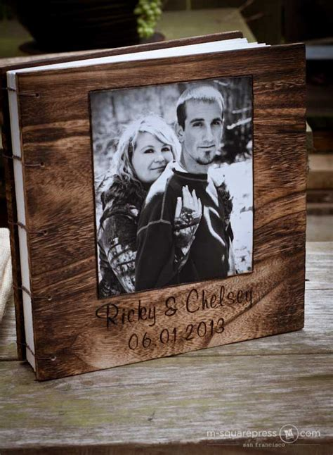 all my photographs are made with pens books rustic photo wood cover wedding guest book and rustic pen