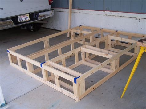 woodwork platform bed frame  drawers plans  plans