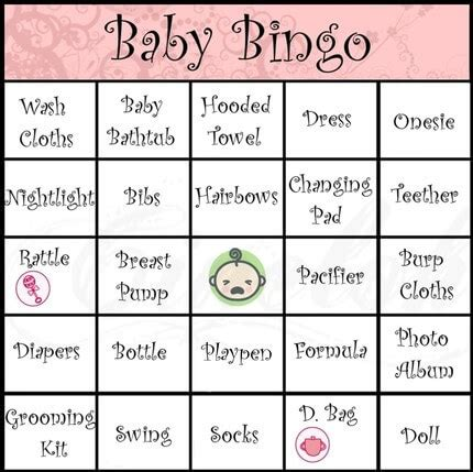 How Do You Play Baby Shower Bingo by How To Play Baby Shower Bingo Baby Shower Ideas