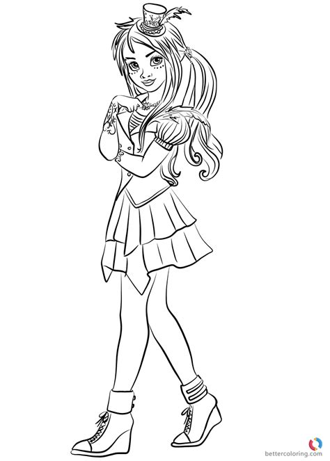 Descendants 2 Coloring Pages Evie by World Freddie From Descendants 2 Coloring Pages