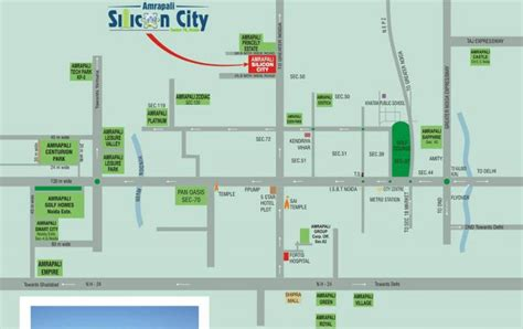 Amrapali Silicon City Floor Plan by 2 Bhk 1075 Sq Ft Residential Apartment Amrapali Silicon