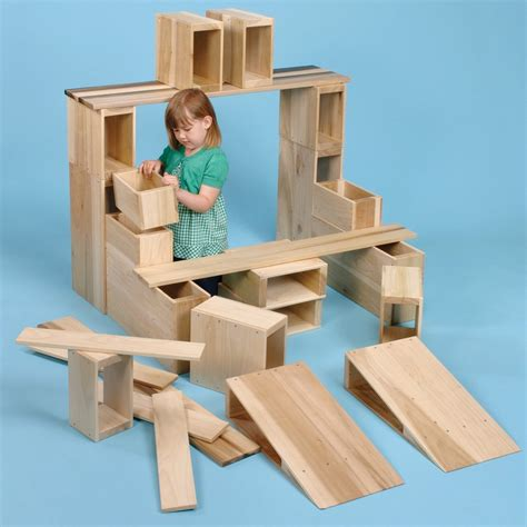 large wooden blocks 26 hollow wooden blocks from early years resources uk