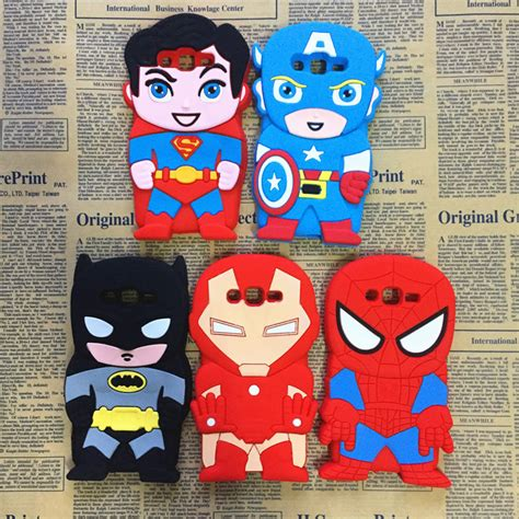Casing Cover Ironman Samsung Prime G530 heroe batman spider captain america iron silicone cover for samsung