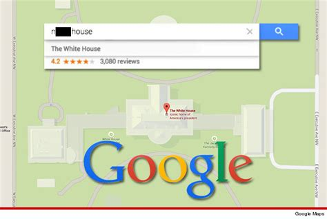 google maps white house google don t blame us blame racist internet for white house n a house mistake