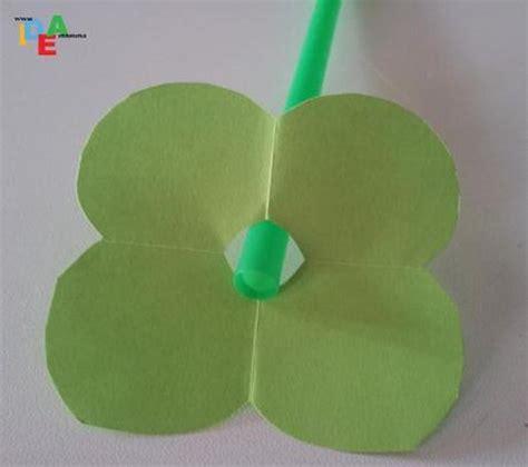 tutorial origami quadrifoglio realizziamo origami di san patrizio paperblog
