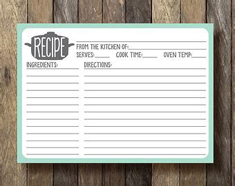 printable recipe cards 5x7 unavailable listing on etsy