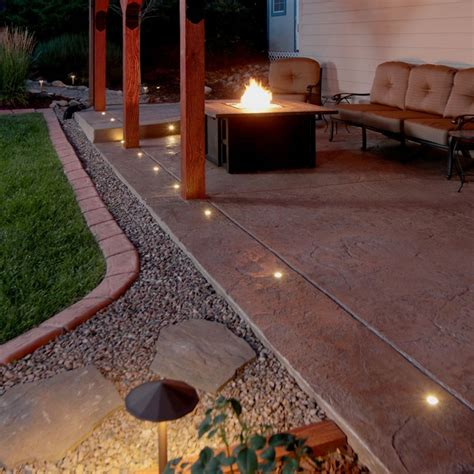 Patio Paver Lights Outdoor Led Paverdot Light 4 Pack With 5 Ft Cables Dekor 174 Lighting