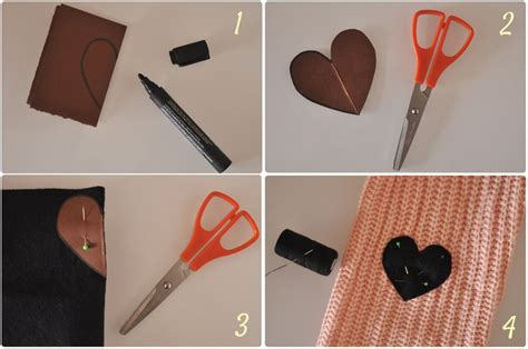 sew much to do diy heart elbow patches art craft home