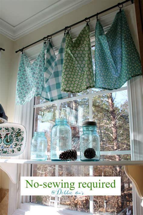 Make Kitchen Curtains How To Make Kitchen Curtains From Dish Towels Curtain Menzilperde Net