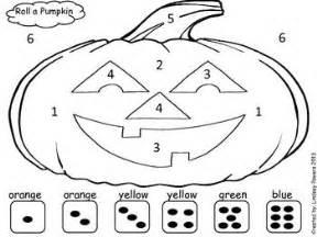Roll A Pumpkin Halloween Math Fun For Kindergarten Color By Number Pumpkin