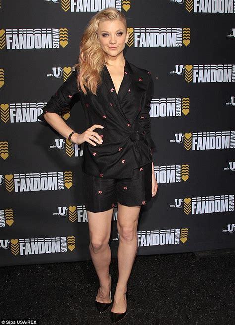 natalie dormer legs of thrones natalie dormer attends mtvu fandom awards