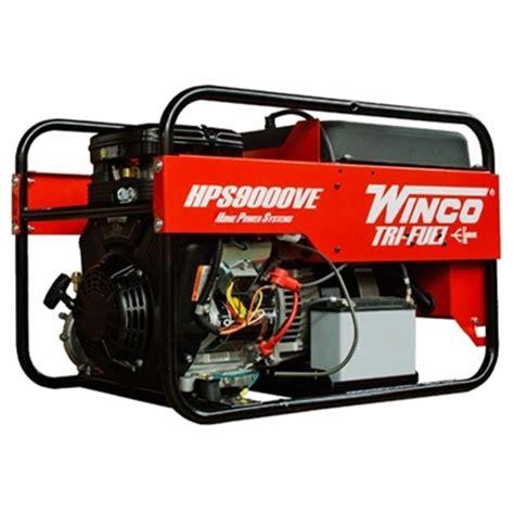 winco tri fuel 9000w generator