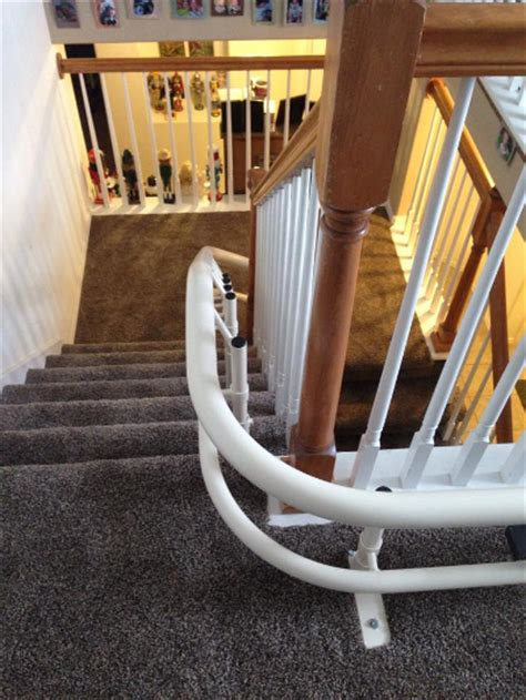 curved stair lifts helix curved stair lift independently yours