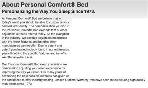 personal comfort bed top 2 complaints and reviews about personal comfort bed