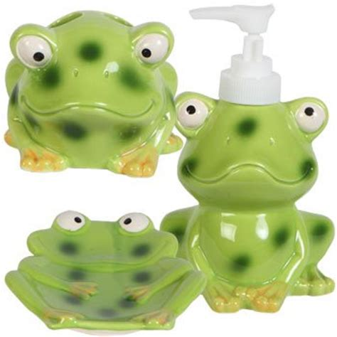 frog bathroom kids jungle friends stoneware bathroom accessories frog