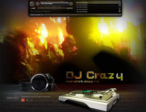 dj flash website template best website templates