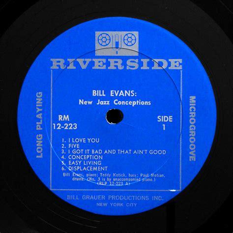 Riverside Records Bill New Jazz Conceptions Lp Riverside Rlp 12 223 Us 1956 Dg Mono Ebay