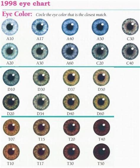 baby eye color chart eye color chart character design references