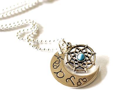 dreamcatcher zodiac moon dream catcher necklace zodiac star sign jewelry