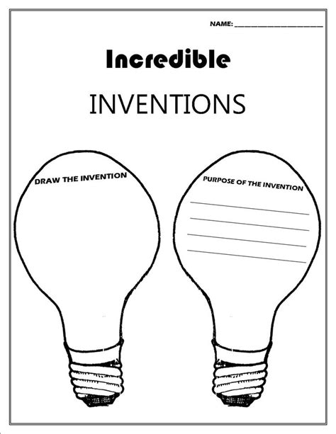 Inventors Report Template Second Grade 8 Best Images About Invention On Activities
