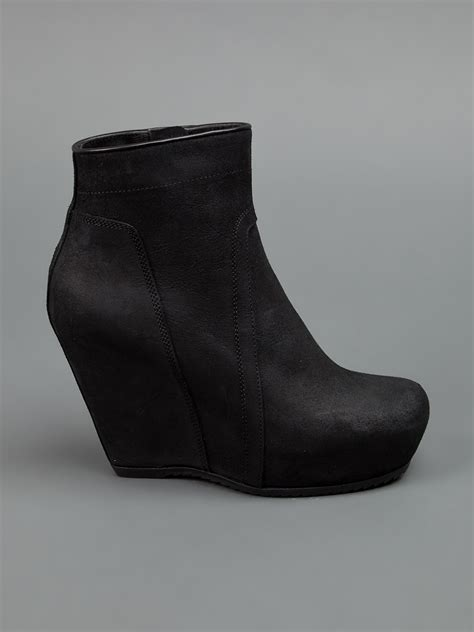 rick owens women s platform wedge ankle boot www teexe