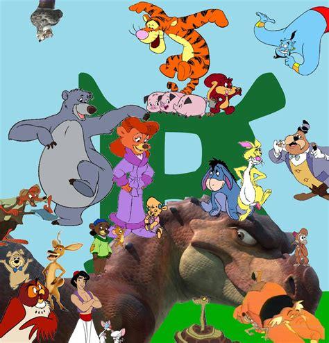 3 Blind Mice Story Image Baloo Shrek Jpg Kerasotes Wiki
