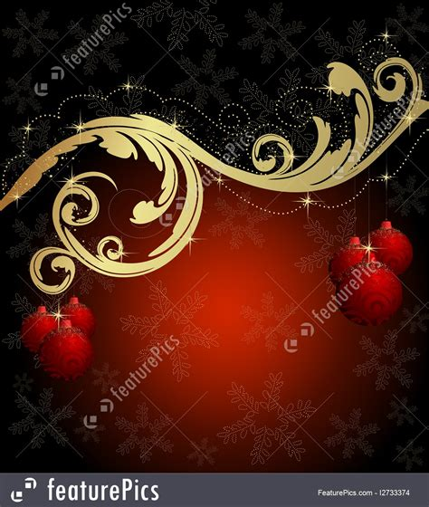 holidays red gold christmas card stock illustration   featurepics