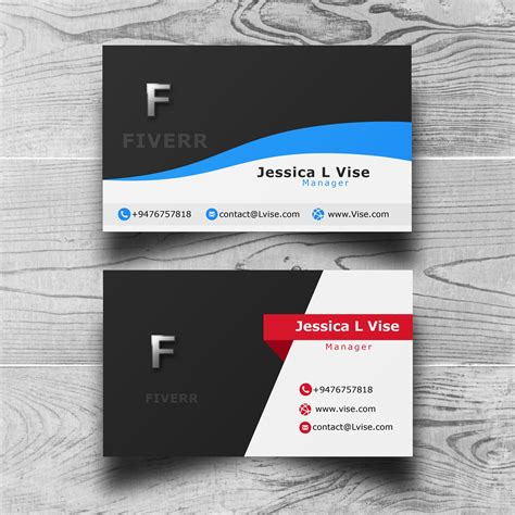 design form business do 5 different style professional business card designs