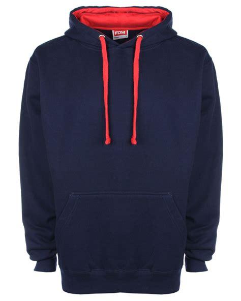 contrast hoodie fdm fh002 unisex contrast hoodie hoody hooded