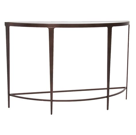 Iron Console Table Pictured Is The Charleston Forge Manufactured Roundabout Console Table That Measures 46 In X 15